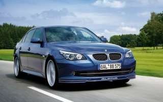 Alpina B5 front wallpapers and stock photos