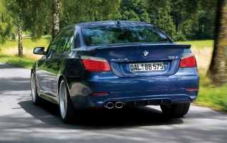 Alpina B5 rear angle wallpapers and stock photos