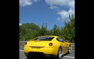 599 GTB Fiorano Rear Angle wallpapers and stock photos