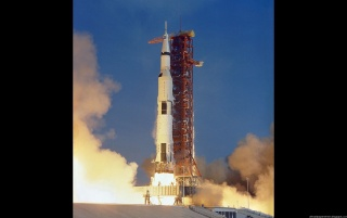 Apollo 11 - Launch 2 wallpapers and stock photos
