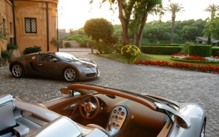 Bugatti Veyron Duo 2 wallpapers and stock photos