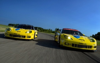 Chevrolet Corvette C6 R GT2 Duo 2 wallpapers and stock photos