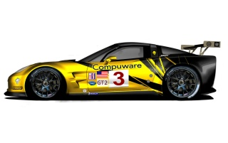 Chevrolet Corvette C6 R GT2 Side Studio wallpapers and stock photos