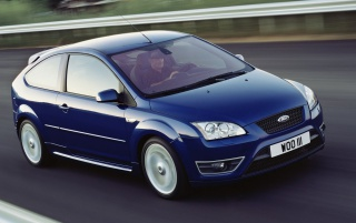 Ford Focus ST blue 2 wallpapers and stock photos