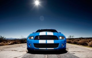 Ford Shelby GT500 Front 2 wallpapers and stock photos