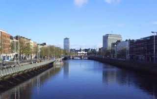 Ireland Dublin Liffey wallpapers and stock photos