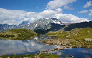 Alpine Vally, Switzerland wallpapers and stock photos