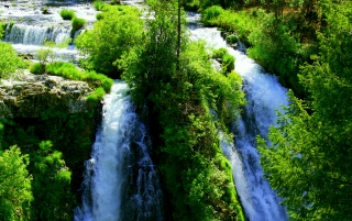 Magnificent Waterfalls wallpapers and stock photos