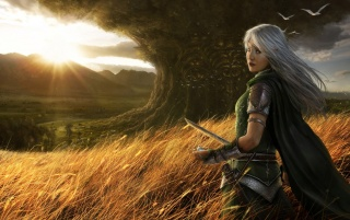 Fantasy girl scenery wallpapers and stock photos