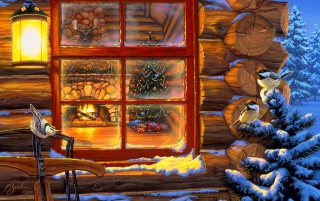 Christmas window wallpapers and stock photos