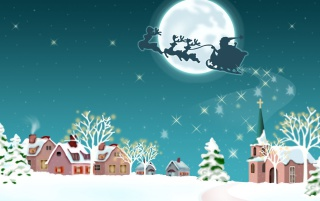 Santa with reindeers wallpapers and stock photos