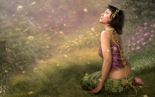 Fantasy girl - Spring wallpapers and stock photos