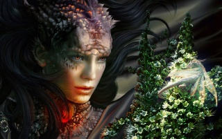 Fantasy Girl - Blumen 2 wallpapers and stock photos