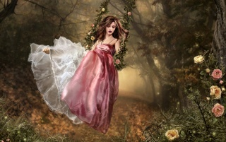 Fantasy girl - Swing wallpapers and stock photos