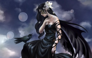 Fantasy girl - Raven wallpapers and stock photos
