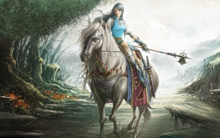 Fantasy girl - Rider wallpapers and stock photos