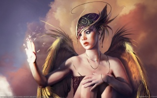 Fantasy girl - Angel 2 wallpapers and stock photos
