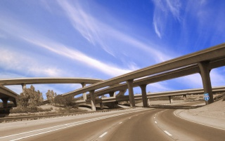 Vista highway wallpapers and stock photos