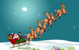 Santa and reindeers wallpapers and stock photos