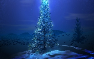 Random: Blue Christmas tree