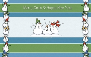 Snowmen party wallpapers and stock photos