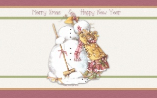 Eating snowman wallpapers and stock photos