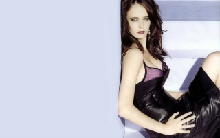 Eva Green Leather Dress wallpapers and stock photos