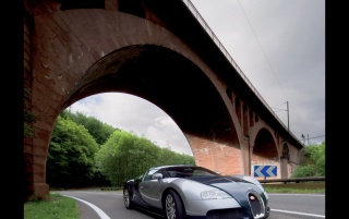Bugatti Veyron bridge wallpapers and stock photos