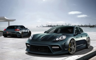 Mansory Porsche Panamera Duo wallpapers and stock photos