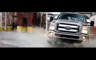 Ford F-Series Front Angle Water 2 wallpapers and stock photos