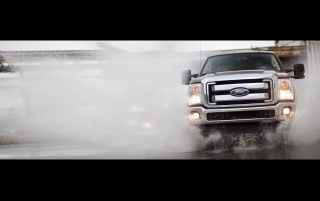 Ford F-Series Front Angle Water 3 wallpapers and stock photos