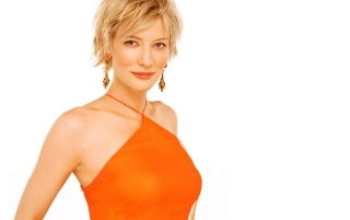 Cate vestido de naranja wallpapers and stock photos