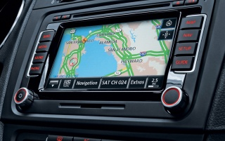 Volkswagen GTI Navigation wallpapers and stock photos