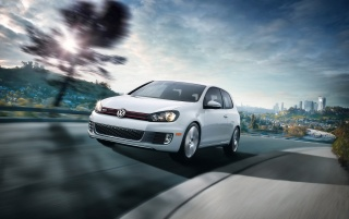 Volkswagen GTI Front Angle Speed wallpapers and stock photos