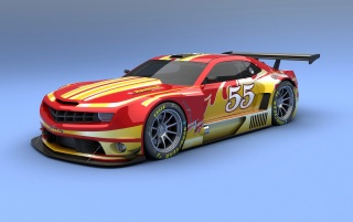 Random: Camaro ALMS Red and Yellow