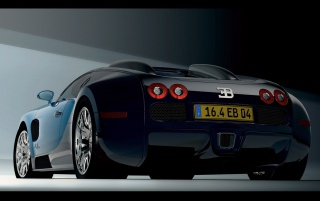 Bugatti Veyron rear wallpapers and stock photos