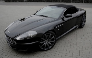 Aston Martin DB9 Convertible Front and Side wallpapers and stock photos