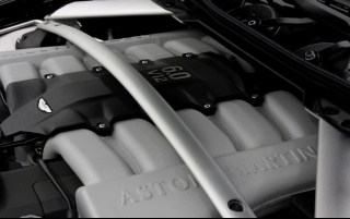 Aston Martin DB9 Convertible Engine wallpapers and stock photos