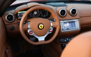 Ferrari California Dashboard 3 wallpapers and stock photos