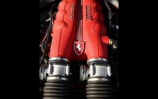 Ferrari California Engine wallpapers and stock photos
