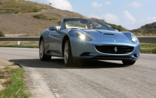 Ferrari California Front Angle Speed wallpapers and stock photos