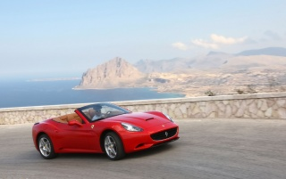 Ferrari California Sicily Erice wallpapers and stock photos