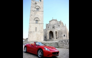 Ferrari California Sicily Erice 2 wallpapers and stock photos