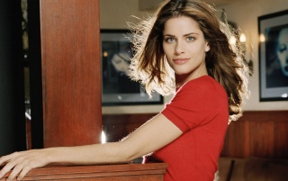 Amanda Peet Red Shirt wallpapers and stock photos
