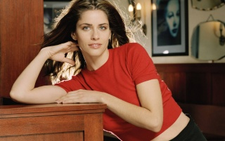 Amanda Peet Camisa Roja 3 wallpapers and stock photos