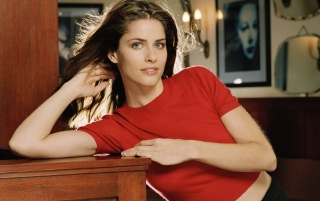 Random: Amanda Peet Red Shirt 6