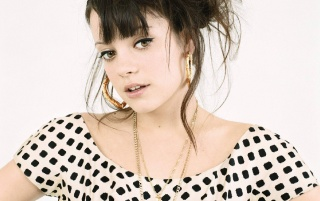 Lily Allen Dots Dress 6 wallpapers and stock photos