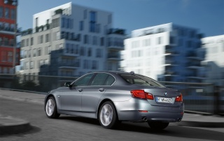 5 Series Rear and Side Speed Angle wallpapers and stock photos