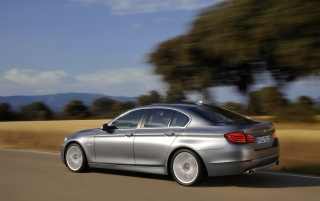 5 Series Rear and Side Speed Angle 3 wallpapers and stock photos