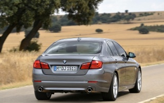 5 Series Rear Angle Speed wallpapers and stock photos
